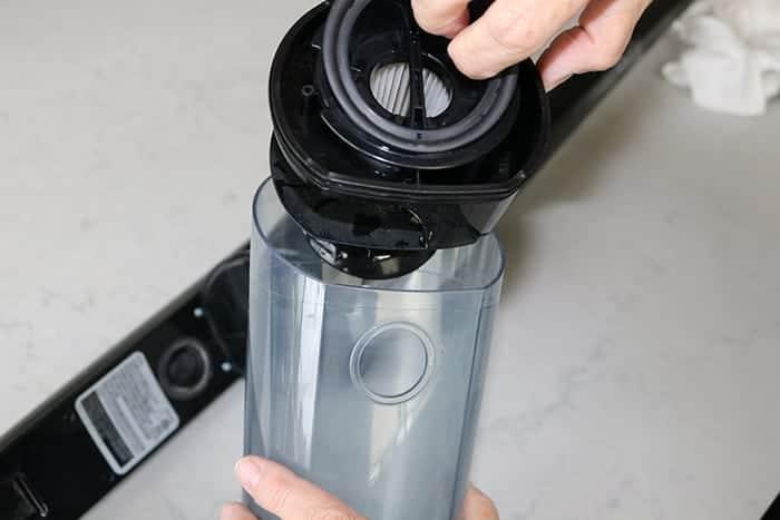 Putting the filter back together
