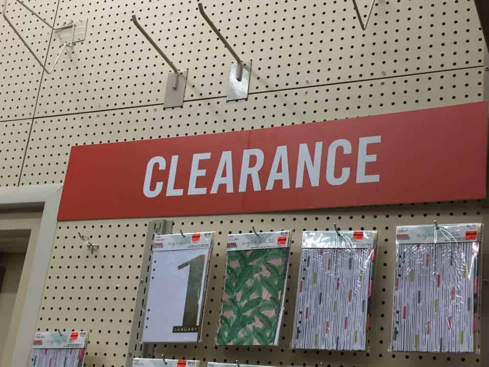 Hobby Lobby clearance wall