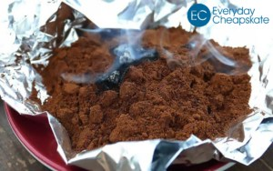Smoke Out Mosquitoes with Burning Coffee Grounds