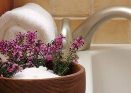 A close up of a flower pot