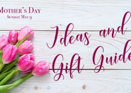 pink tulip flower on wood background with copy Mother's Day Gift guide 2021