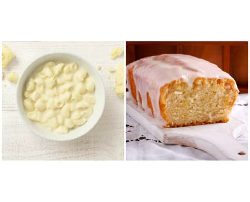 mac and cheese with lemon bread
