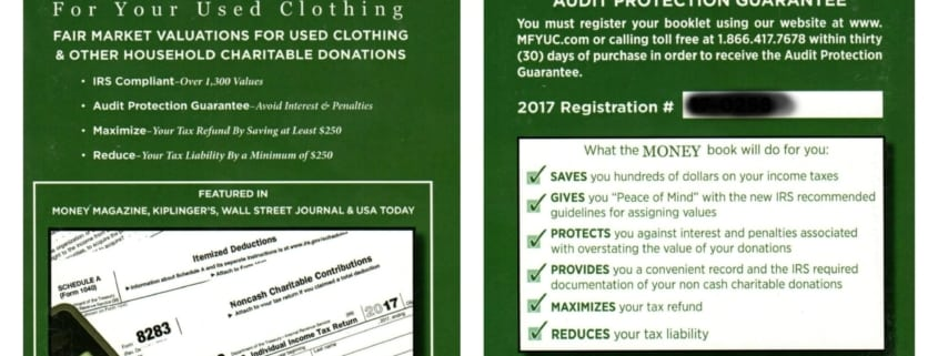 money-for-your-used-clothing front/back