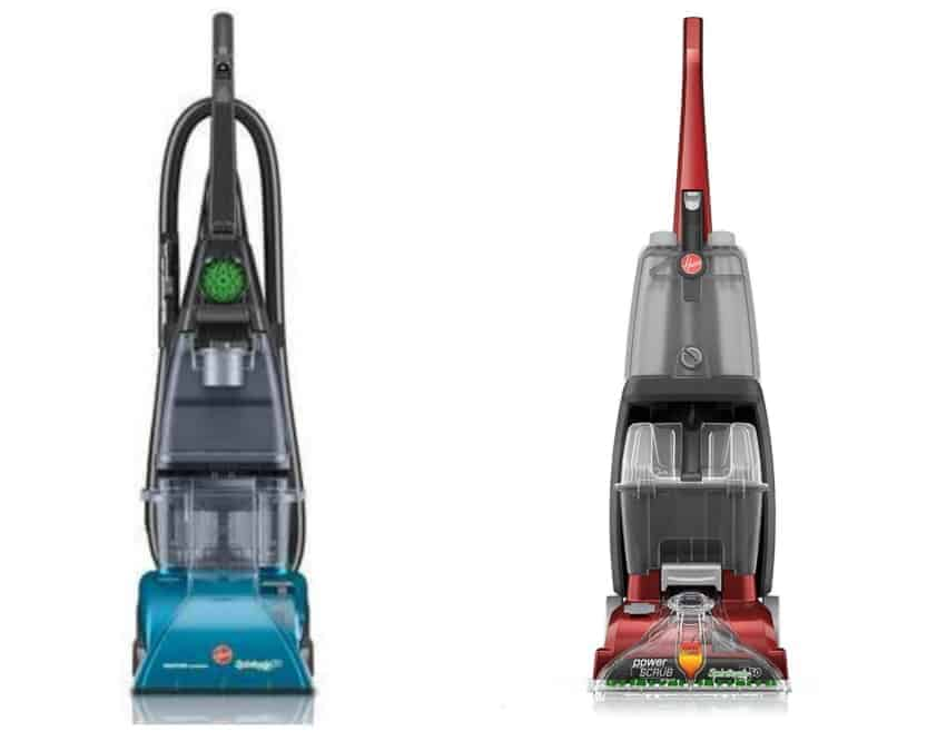 Two versions of Hoover Carpet Cleaning machine