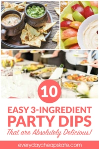 10 Easy 3-Ingredient Party Dips That are Absolutely Delicious!