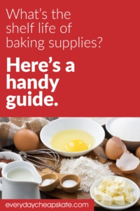 What's the Shelf Life of Baking Supplies? Here's a Handy Guide