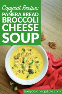 Panera Bread Copycat Recipe: Broccoli Cheese Soup