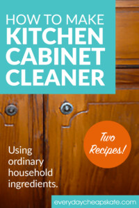 How to Make Kitchen Cabinet Cleaner