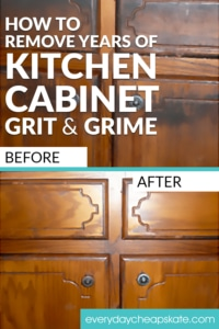 How to Remove Years of Kitchen Cabinet Grit and Grime