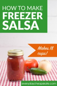 How to Make Freezer Salsa