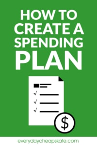How to Create a Spending Plan