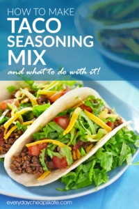 How to Make Taco Seasoning Mix and What to Do With It