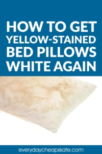 How to Get Yellow-Stained Bed Pillows White Again