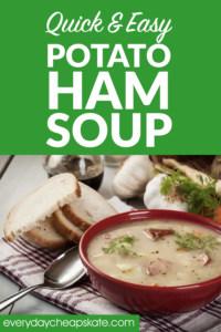 Quick & Easy, Budget-Friendly Potato Ham Soup