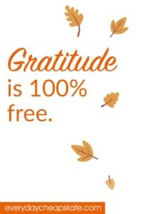 Gratitude is 100% Free