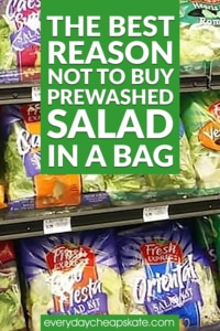 The Best Reason NOT to Buy Prewashed Salad in a Bag