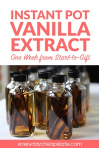 Instant Pot Vanilla Extract—One Week from Start-to-Gift