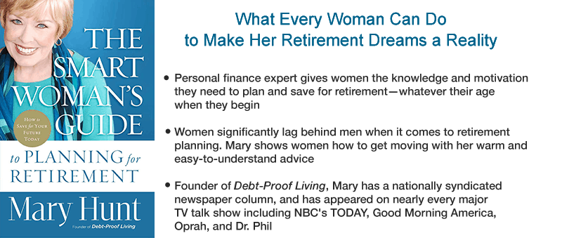 Front cover The Smart Woman's Guide to Planning for Retirement by Mary Hunt