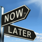 Now and Later Choice Leads Often to Procrastination