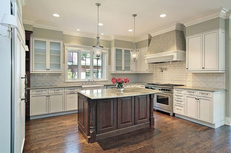 Gorgeous hardwood and laminate kitchen floors