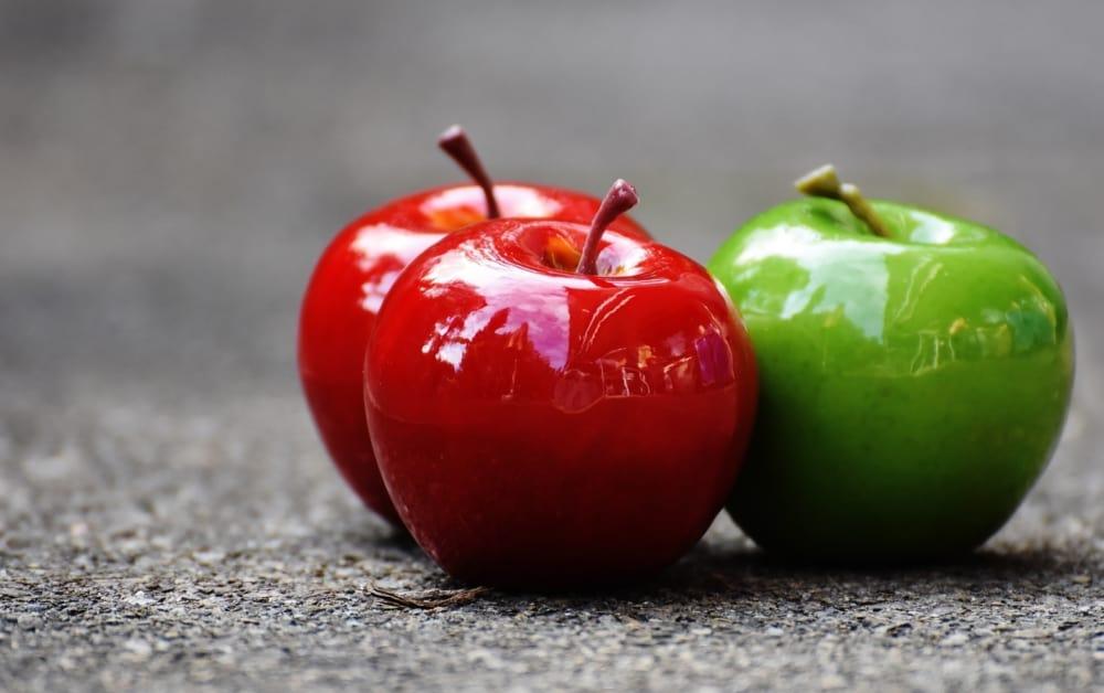 A close up of a fruit