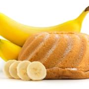 banana-cake-on-white-background
