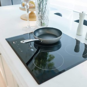 black glass cook top