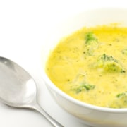 Creamy broccoli and cheddar cheese soup. This hearty soup melts in your mouth.