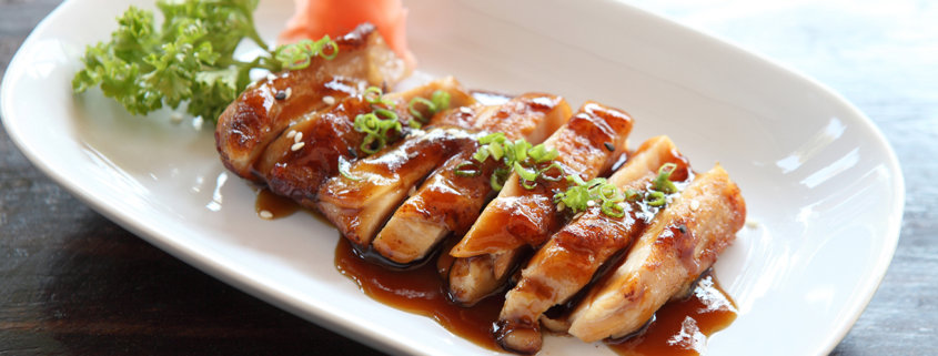 chicken with homemade teriyaki sauce