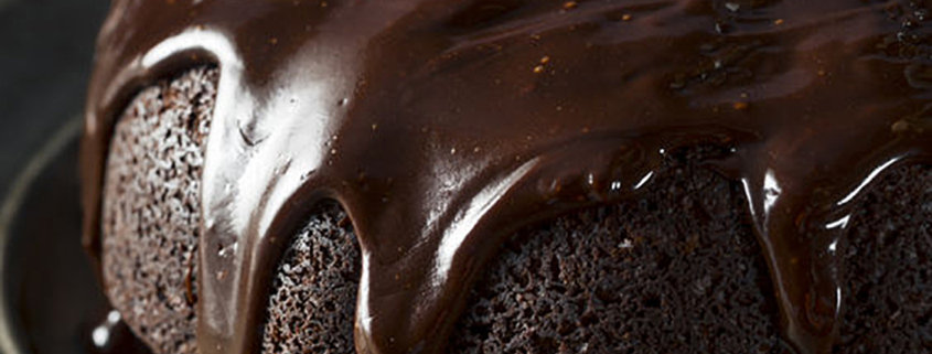 Sweet Homemade Dark Chocolate Bundt Cake Ready to Eat