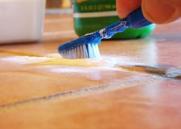 cleaning-grout-with-baking-soda-and-lemon-juice