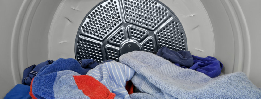 dry clothes inside clothes dryer