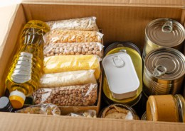 box of emergency food