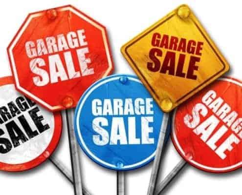 garage sale street signs