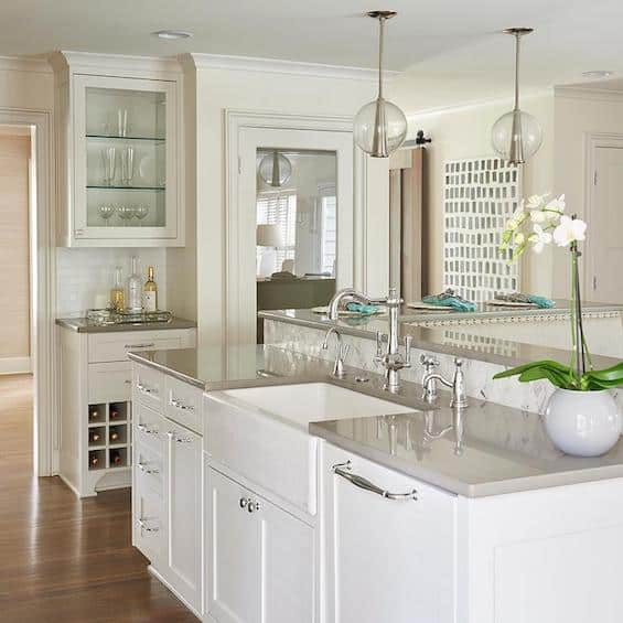 White Kitchen Cabinets With Gray Countertops: The Case For Quartz Countertops