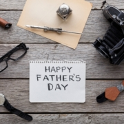 happy-fathers-day-card-on-rustic-wood-background