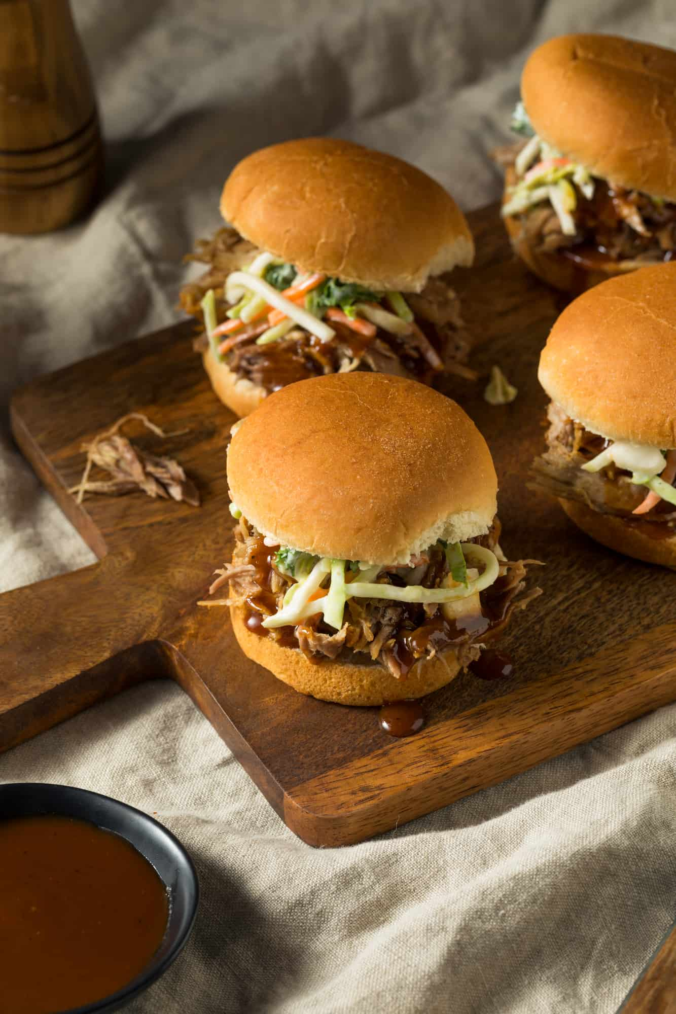 Pulled Barbecue Chicken Sliders