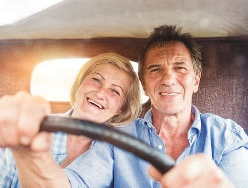 Husband and wife have mixed emotions over driving and old car