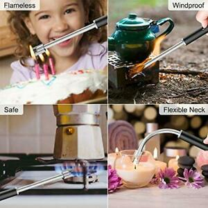 collage showing uses for rechargable wand lighter