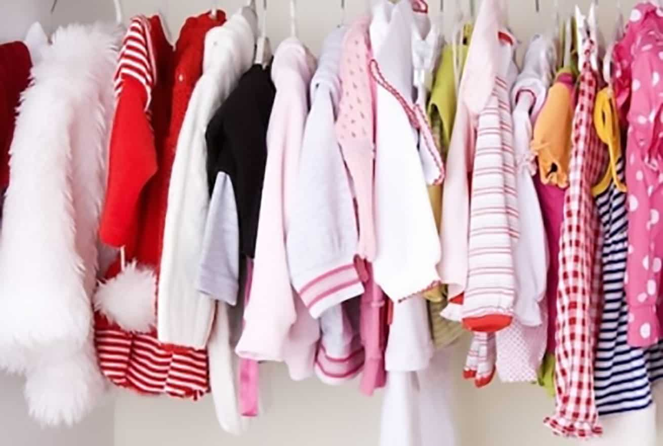 kids clothes on consignment rack