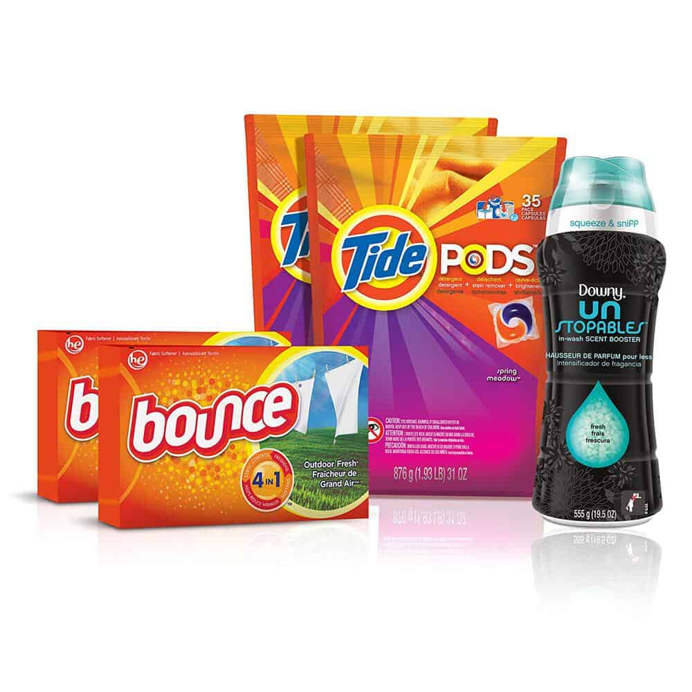 Laundry bundle of detergent, softeners enough for a full year at college