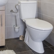 toilet with leak detector