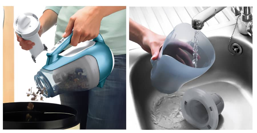 cleaning handheld vac