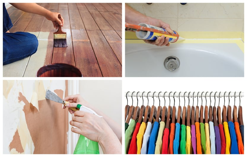 home maintenance tips collage