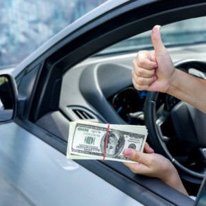 paying cash for car