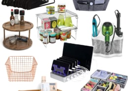 collage of fabulous home and life organizers