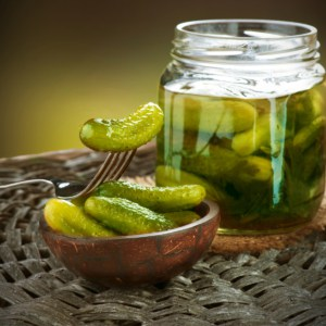 containers of store bought pickle juice