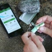 Using a smartphone to find a treasure is an activity known as geocaching