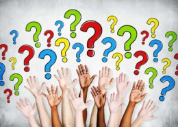 hands in air to ask questions