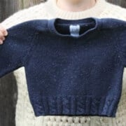 Man's sweater shrunken to toddler size
